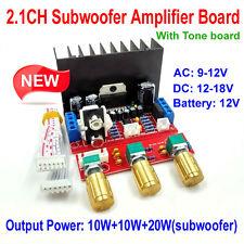 AC9V-12V DC12V TDA7377 2.1 3 Channel Subwoofer Bass Stereo Audio Amplifier Board