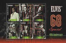 Elvis Presley $1.40 Canouan Souvenir Stamp Sheet 6 Stamps 68 Special Anniversary