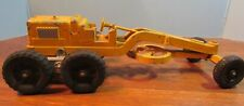 Vintage Hubley Kiddie Toy Road Grader 481 yellow tractor made in USA articulate