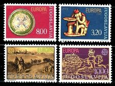 SELLOS YUGOSLAVIA TEMA EUROPA  1976 1524/5 + 1979 1663/4 4v.