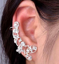Butterfly Earring Crystal Ear Clip New One Silver Ear Cuff Climber Jewelry