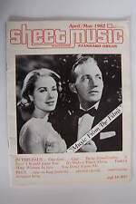 Sheet Music Magazine April/May 1982 Volume 6 No 4 Music From The Films Issue Org