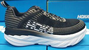 NEW Hoka One One Bondi 6 1019269 BLACK Running Shoes For Men's