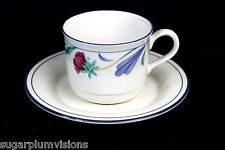 Lenox POPPIES ON BLUE Cup and Saucer - Excellent Condition