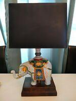 Vintage Frederick Cooper Porcelain Elephant Figurine Statue Lamp w/Shade Working