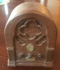 "Vintage CHADWICK-MILLER Mini Radio Music Box 3.5"" Happy Days Here Again 1974"