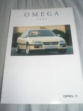 OPEL Omega TAXI BROCHURE LUG 1994 TESTO TEDESCO