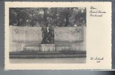 Postcard Wien Strauss-Lanner Denkmal Statue W. ? photo 258 RPPC  unused #441