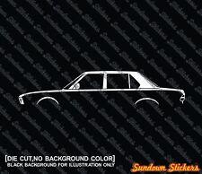2x car silhouette stickers - for BMW e28 5-series vintage sedan
