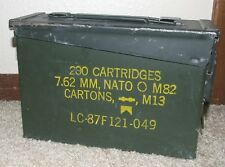 Vintage B&B Ammunition Green Military Ammo Box/Can - 200 Cartridges, 7.62 MM