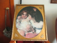 """Vintage Ornate Gold Victorian Baroque Style Picture Frame Sisters 22"""" x 26"""""""