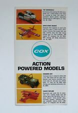 Vintage COX Action Powered Models Toy Catalog Leaflet 1969