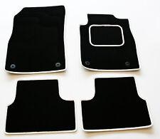 Ajuste Perfecto Alfombra Negra alfombrillas de Para Honda Crx Del Sol 92-97 - Cuero Blanco Tr
