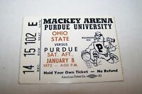 JAN 8 1972 NCAA basketball ticket PURDUE vs OHIO STATE