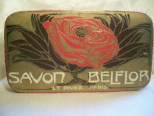 """L.T. PIVER """"BELFLOR"""" BOITE A SAVON 1910 VINTAGE ART NOUVEAU PERFUME SOAP BOX"""
