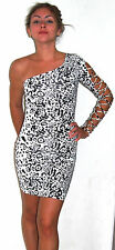 Forplay Born in Hollywood Black White Casual Clubwear Womens Dress Size S NEW