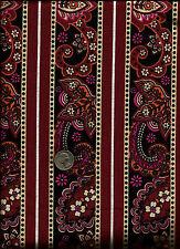 """""""Stephanie Dawn"""" Stripe Print burgundy Fabric by Josephine Kimberling -Kaufman"""