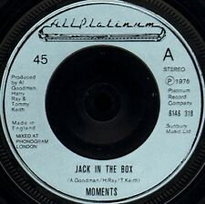 """THE MOMENTS JACK IN THE BOX 6146 318 near Comme neuf disc uk All Platinum 7"""" WS EX/"""