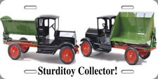 "Metal License Plate 6x12 ""Sturditoy Collector"" Old Toy Truck Novelty Gift Xmas"
