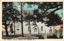 Tennent New Jersey birds eye view Old Tennent Church antique pc Z25700
