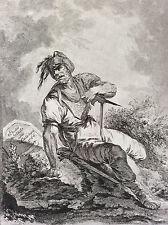 Philip Jakob II DE LOUTHERBOURG 1740-1812 étude de Soldat 1764