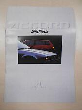 Catalogue HONDA ACCORD AERODECK
