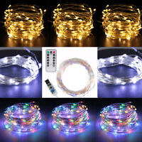 10M 100 LED Christmas Tree Fairy String Party Lights Lamp Waterproof + Remove