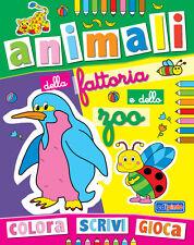 Colora Scrivi Gioca - Animali della fattoria e dello zoo - Ed. Edipinto