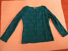 Pre-owned Kate & Mallory Designs Green lace shirt, Medium