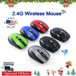 2020 US Wireless Mouse Large Ergonomic 2.4G PC Laptop Cordless Mice