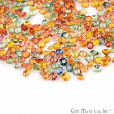 100 cts Natural Loose 3-4mm Multi Color Sapphire Lot, Round Gemstone Lot.