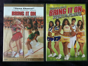 Lot Of 2 Bring It On & Fight To Finish DVD's Cheerleading