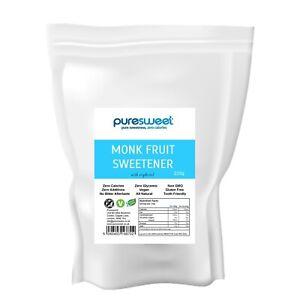 Puresweet Monk Fruit Sweetener 235g, Zero Calories, No Bitter Aftertaste.