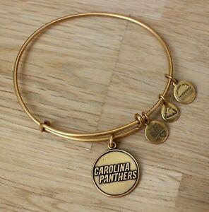 Alex and Ani NFL Carolina Panthers Football 2014 Gold Toned Adjustable Bracelet
