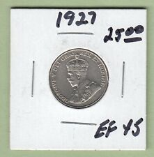 1927 Canadian 5 Cents Coin - EF-45