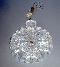 Waterford Crystal Snowflake Wishes Christmas Ornament 2014 w/Enhancer 154682 New