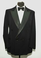 "GREAT TAILORED DOUBLE BREASTED PEAK LAPAL TUXEDO DJ DINNER SUIT 40""R 34""W 1940's"