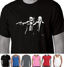 Funny T-shirts Darth Vader Boba Fett Star Wars Pulp Fiction Parody sizes Singlet