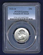 U.S. 1932-D WASHINGTON QUARTER/25 CENTS, PCGS: ALMOST UNCIRCULATED DETAILS