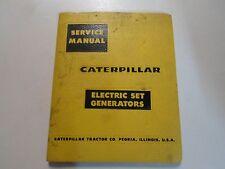 Caterpillar Generator for Diesel Electric SETS Service Repair Shop Manual 5V SET