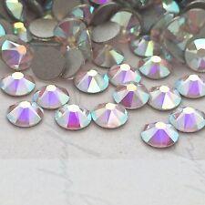 SWAROVSKI CRYSTALS AB 100 x SS12 flatbacks Diamantes rhinestones GLUE ON #2088