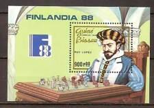 Guinea Bissau - 1988 - Mi. Blok 274 (Schaken) - Postfris - BH685
