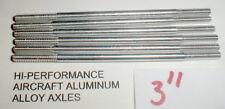 """(6) Hi-Per Aluminum Axles 5:40 thread Vintage 1960's Slot Car NOS  3"""" Long"""