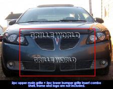 Fits 2005-2008 Pontiac G6 Perimeter Black Grill Insert Combo