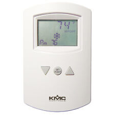 KMC CTE-5202W - Analog Electronic Thermostat with LCD Display White - Thermostat