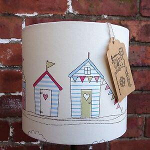Custom Handmade Light/Lampshade Fryetts Beach Huts Fabric Choice of Size colour
