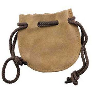 """Suede Drawstring Pouch 3"""" Mojo Bag NEW Leather Dice Crystals Herbs Medicine"""