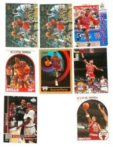 Lot Of 8 Scottie Pippen Baskeball Cards