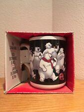 "Coke Gibson 16oz Ceramic Coca Cola ""Happy Polar Bear Group"" Coffee Tea Mug 1996"