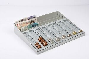 Coin Tray Cash Holder Banknotes Money Coin Counter Cash Counting Receipts Tray